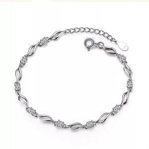 Silver Plated Cubic Zircon Bracelet NEW